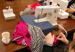 Sewing on an Elna supermatic