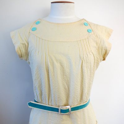 Sherbet stripes 1930s dress thedreamstress.com