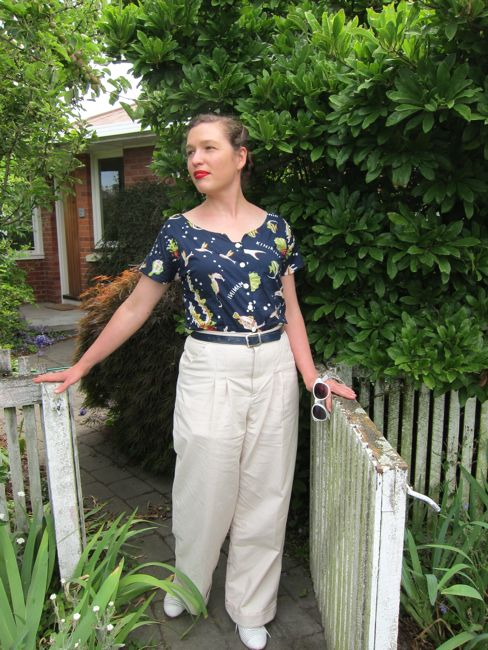 1930s inspired pleated trousers 2