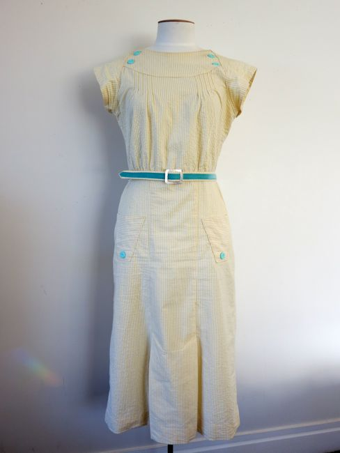 1930s sherbet stripes dress thedreamstress.com