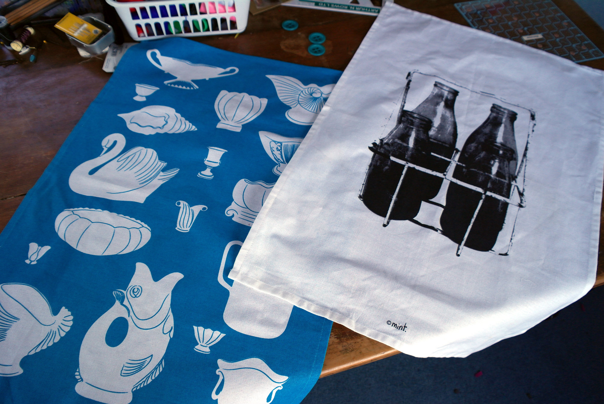 How to make a TeaTowel Cushion Cover   Made Marion Craft
