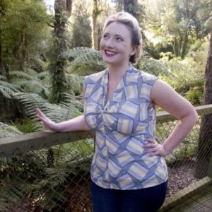 Scroop Patterns Ngaio blouse by thedreamstress